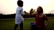 Mother & song Playing in the park video