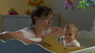 HD DOLLY: Mother With Her Sleepless Baby video