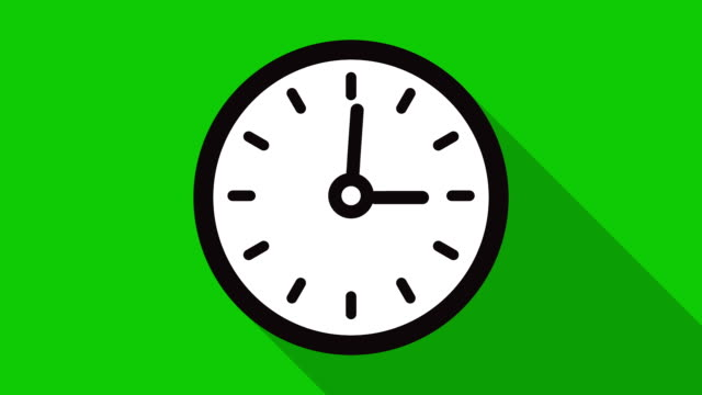 Motion background with spinning clock in 12 hour seamless loop video