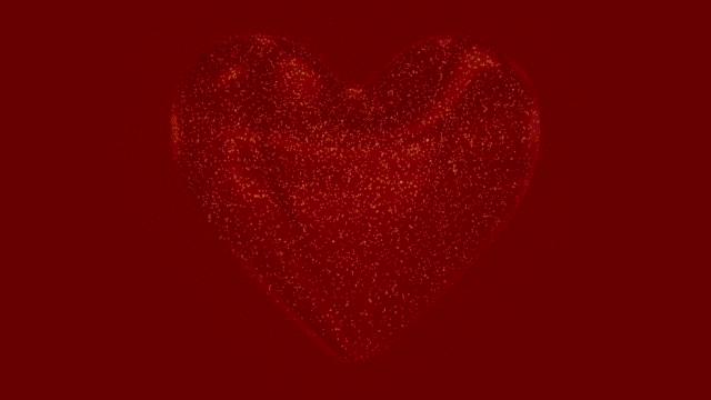 Motion graphic with 3D heart for valentine's day video