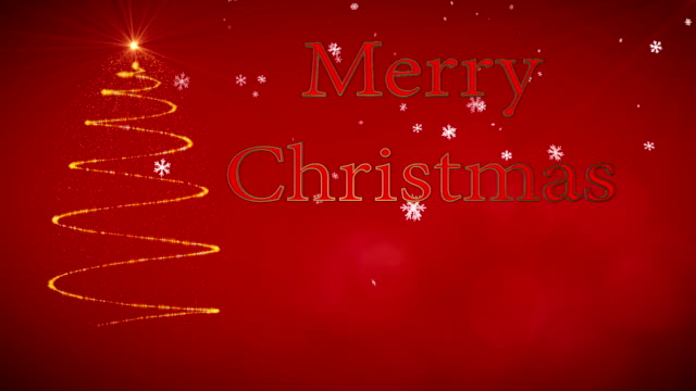 Motion graphic with the message Merry Christmas video