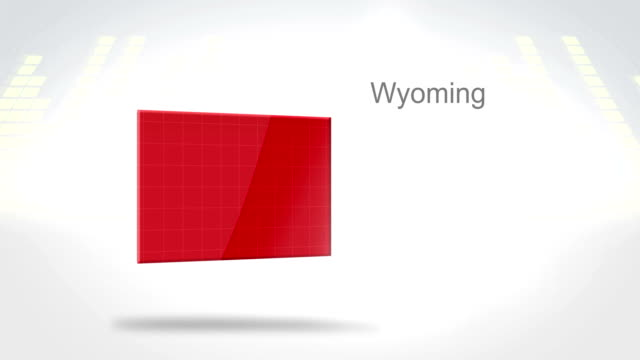 Motion Graphics 3D animation of the american state of Wyoming video
