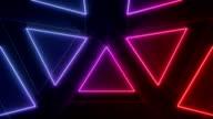 Motion graphics geometry loop video
