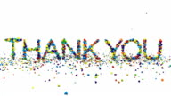 Motion graphics - thank you animation on white video