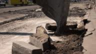 Motion of an excavator bucket. video
