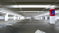 Motion of empty underground parking video