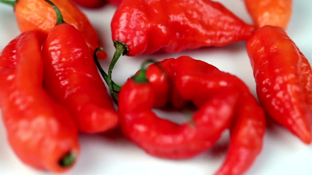 Motion of ghost pepper on white video