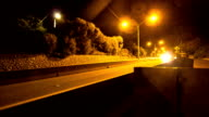 Motion Timelapse: Cars At Night video