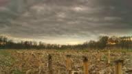 HD Motion Time-Lapse: Cloudscape Over Corn Stubble video