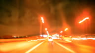 HD motion timelapse hyperlapse: Car driving and acceleration video