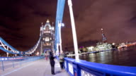 HD Motion Time-Lapse: People On The Tower Bridge video