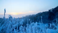 HD Motion Time-Lapse: Snowy Countryside video