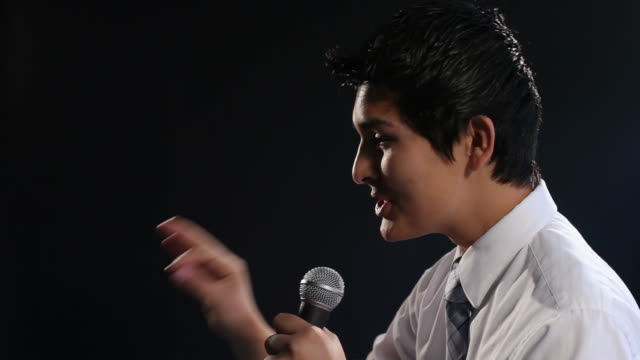 Motivational speaker, closeup video