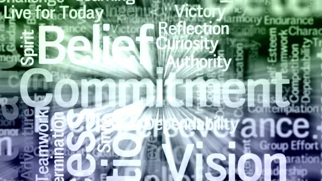 Motivational words background video