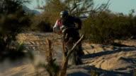 Motocross bumps slow motion video
