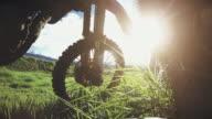 Motocross motorbike in a field video