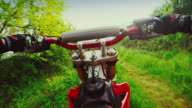 Motocross motorbike riding point of view video