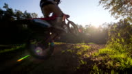 Motocross rider performing a stunt video