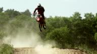SLO MO Motocross Riders On Track video