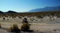 Motocross tracking shot. video