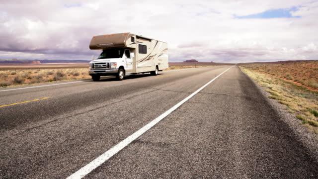 DS Motor home driving through a desert video