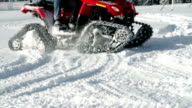 HD STOCK: Motor sled driving on the snow video