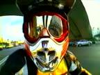 motorbike in the street, Motocross rider, Pov shots video