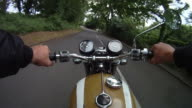 Motorbike journey along rural road video
