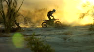 motorcross backlit dust video
