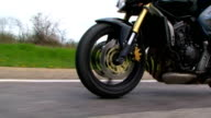 Motorcycle. Close-up video