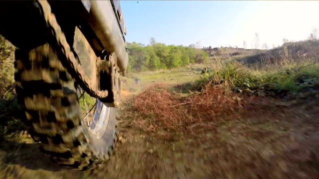 Motorcycle driving on dirt track video