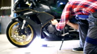 Motorcycle engine maintenance. video