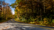 Motorcycle Group Riding in Blue Ridge Mountains with Fall Colors video