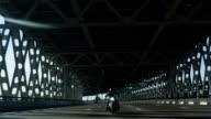 Motorcycle On The City Bridge video