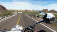 Motorcycle on the road video
