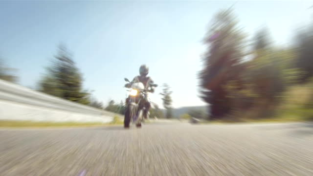 Motorcycle racing video