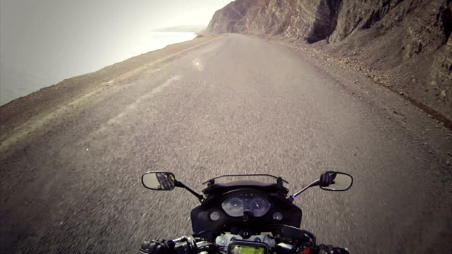 Motorcycle ride on a empty road video