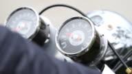 Motorcycle Rider At Starting video