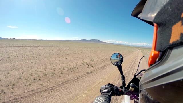 Motorcycle road adventure through Mongolia video