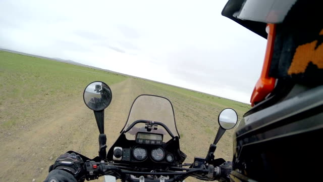 Motorcycle road adventure through Mongolia video