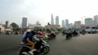 Motorcycle traffic on the street video