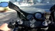 Motorcycle-highspeed-pov video