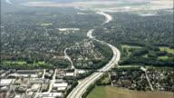 E54 Motorway - Aerial View - Bavaria,  Upper Bavaria,  Landkreis Fürstenfeldbruck helicopter filming,  aerial video,  cineflex,  establishing shot,  Germany video