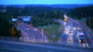 UK Motorway, M25/M26/A21 traffic at dusk. video