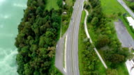 Motorway road with parking place video