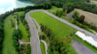 Motorway road with traffic video