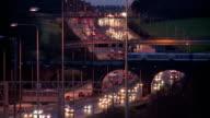 Motorway traffic at dusk video