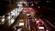 Motorway - Traffic at night video
