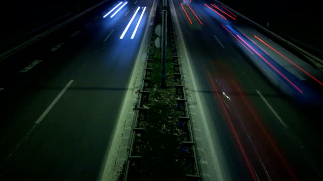 Motorway traffic shot video