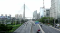 Motorway with traffic - São Paulo video